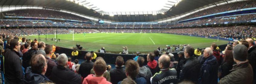 Im Stadion. ManCity gegen Stoke City